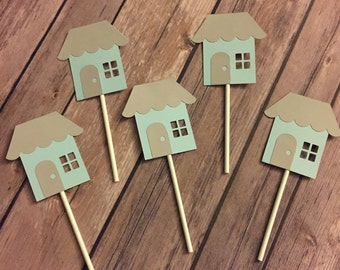 Housewarming party cupcake toppers, set of 12 or 24