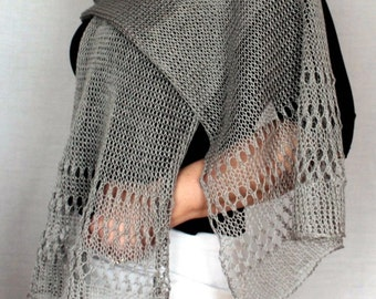 Beige Scarf linen Shawl Women Cowl Scarf Lace Edge Christmas Valentines Day Mothers Day Gift Ideas For Her Women Fashion Accessories