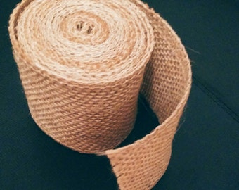 Natural jute burlap ribbon - 3m long, 6cm wide - Wedding supplies
