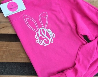 9.99 Easter Bunny Ear Monogram Shirt