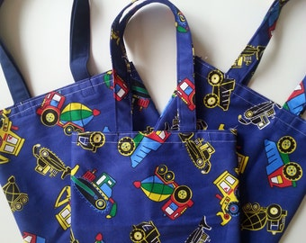 Toddler Library Tote; Trucks, Small