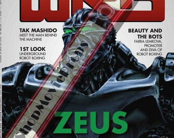 WRB magazine cover with (Zeus) used in Real Steel