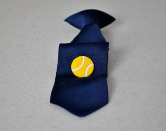 Tennis Ball Tie Tack,Tennis Pin,Accessories,Tie Clip,Pin,Sports