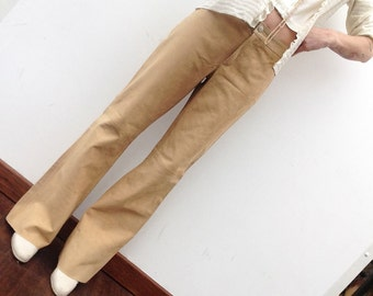 Vintage Tommy Hilfiger leather pants suede bell-bottom trousers