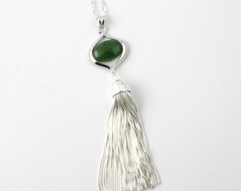 Canadian Nephrite Jade Tassel Necklace