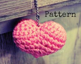 Crochet Heart Pattern Crochet Amigurumi Heart Pattern Keychain Heart Pattern Crochet Pattern Crochet Heart Gift Pattern Crochet Favor