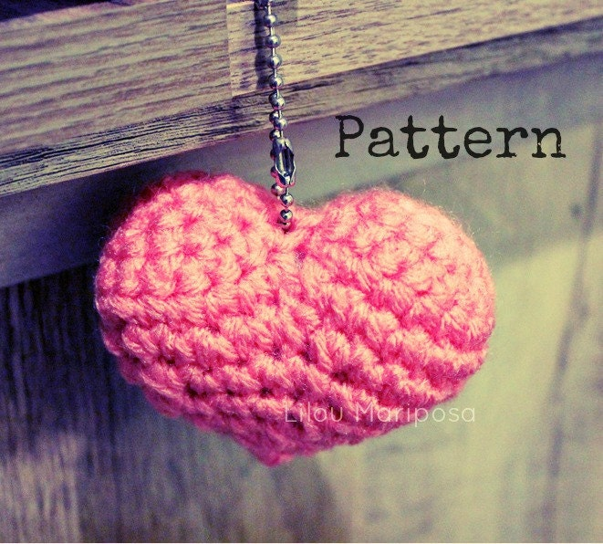 Amigurumi Crochet Heart Patterns : Crochet Heart Pattern Crochet Amigurumi Heart Pattern ...