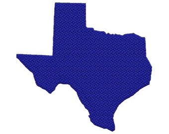Texas USA State...Solid Fill Machine Embroidery DESIGN NO. 646
