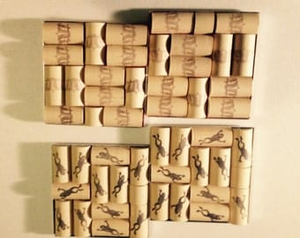 Recycled Wine cork coasters- Set of 2