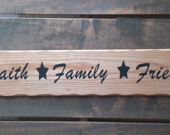 Faith Family Friends Sign from Reclaimed Wood