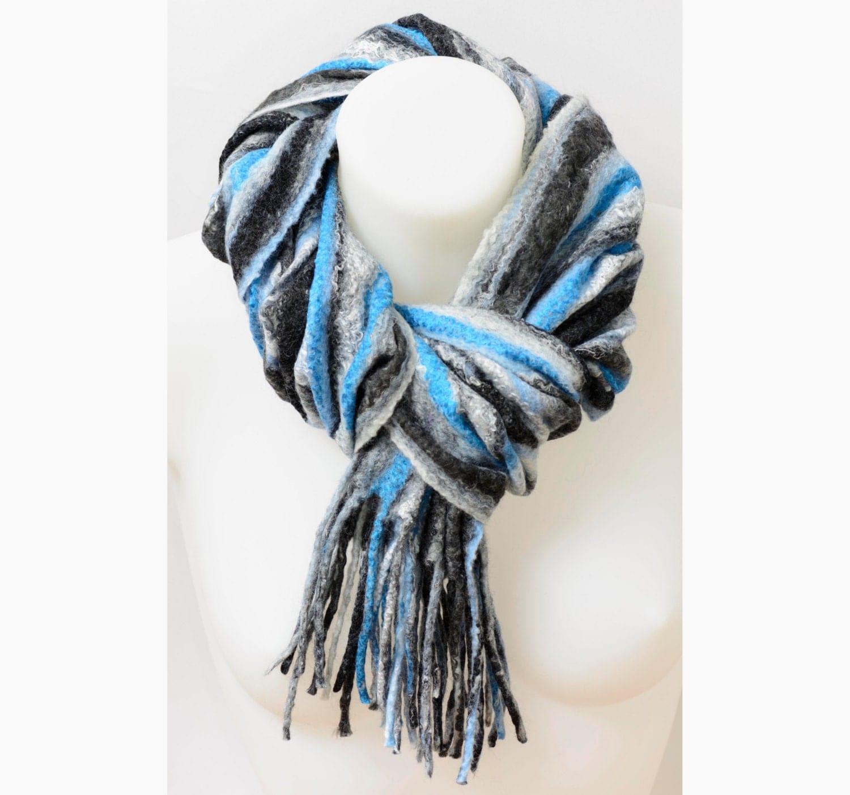 wool scarf custom made felted wool scarf scarf