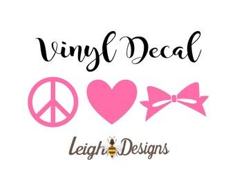 Bow Car Decal Etsy - Bow custom vinyl decals for car