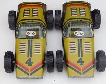 Soviet Vintage Big Racecar Tin Pull Along Rally Car Metal Toy NOS NORMA Car