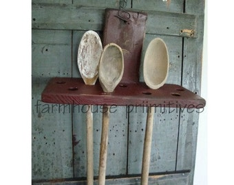 Early Primitive Spoon Holder