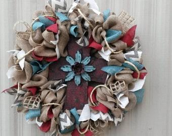 Western Red Cross Wreath