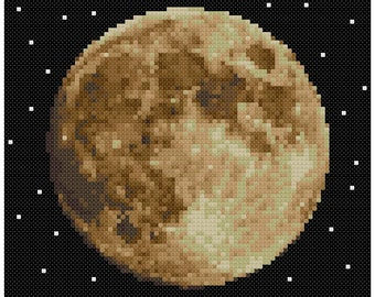 PDF Cross Stitch pattern - 0059.Moon - INSTANT DOWNLOAD