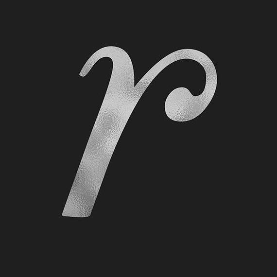 Alphabet Foil Silvers: Silver Alphabet, Silver Font Clip Art, Hand Drawn Letters