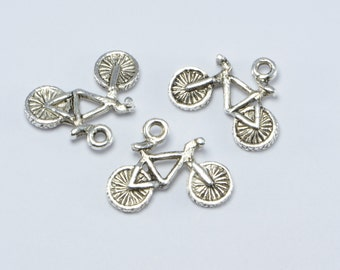 30pcs Bicycle Charms in Antique Silver. Ride, BMX, Bike Pendants. Great Supplies for your Jewelry Projects #SD-S8132