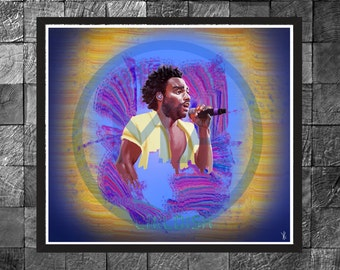 Childish Gambino Rap, Hip Hop, Photo Print, Portrait Poster, Wall Art