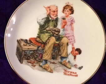 "Norman Rockwell "" The Cobbler"" Plate"