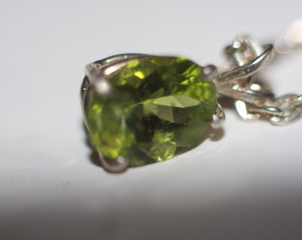 9x7mm Praisilite[Green Amethyst] set in sterling silver