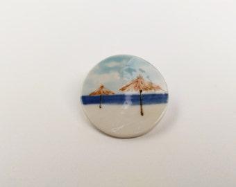 Sunny Beach Porcelain Brooch