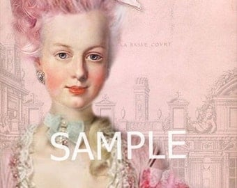 Fabric Art Quilt Block - Marie Antoinette - 12-1392  FREE Shipping
