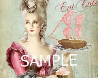 Fabric Art Quilt Block - Marie Antoinette - 14-0174  FREE Shipping