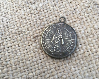 Vintage brass christ pendant