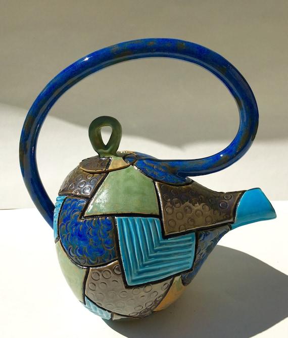 Teapot Funky Teapot Small Handmade Teapot Ceramic Teapot