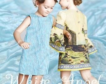 125CM Wide Light Blue Jacquard Fabric for Summer and Autumn Dress Clothes E055