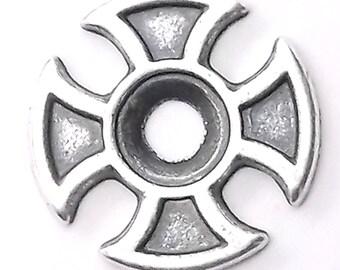 """Maltese Cross Bezel Concho in Antique Silver 3/4"""" 7785-01"""