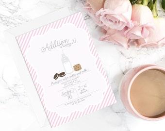 Milk and Cookies Invitation | cookies and milk invite | milk & cookies printable | birthday party invitation | cookie party invite | digital
