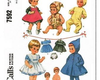 "Copy of Vintage 1964 McCalls Pattern for 9"" Tiny Tears Wardrobe"