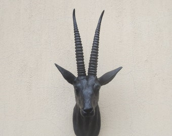 Antelope Head wall mount, Antelope head, wall mount, faux taxidermy, Animal head, wall hanging, faux animal, christmas