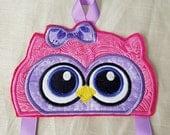 Owl Bow Clip Holder,Pink Purple Bow Clip Holder,Ready To Ship Bow Holder,Girls Bow Holder,Owl Bow Holder,Kids gift,Christmas Gift for Girls