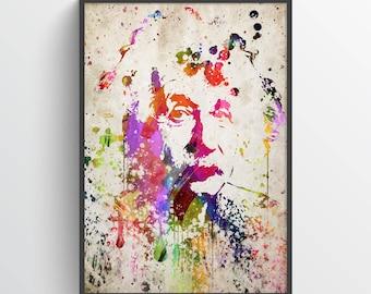 Albert Einstein Poster, Albert Einstein Print, Albert Einstein Art,  Home Decor, Gift Idea