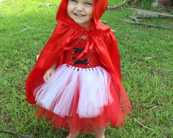 Little Red Riding Hood Tutu Dress Baby Girls Cape