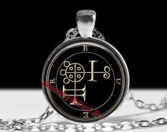 10 BUER demon seal pendant, Goetia sigil necklace, Lemegeton jewelry, Lesser Key, occult pentacle, summoning demons ritual amulet 104