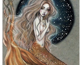 The Golden Mermaid - Special Limited Edition Print