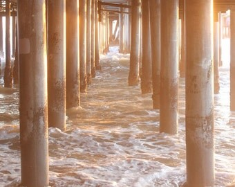 Ocean Photography / Ocean Art - Los Angeles Art / Los Angeles Print - Santa Monica Pier - Nautical / Coastal Wall Art Photo / Beach Prints