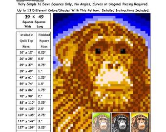 0135 Monkey Gaze Quilt Pattern
