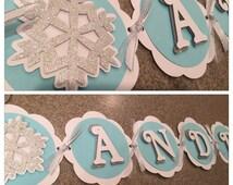 Winter ONEderland Banner, Snowflake banner, winter onederland happy birthday banner, winter Onederland party decor, winter onederland party