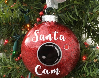 Santa Cam Ornament, Santa Spy Camera, Christmas Ornament, Santa Camera, Funny Christmas Ornament, Kids Ornament