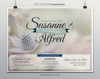 Digital - Instant Download Wedding Invitation, Custom Made Wedding Invite, Wedding Invitation, Custom Wedding Invitation, Digital Invitation