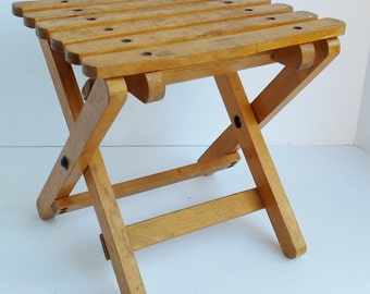 Small Folding Slatted Table made in Poland