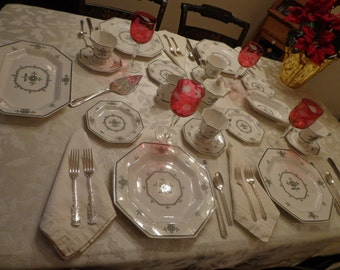 Independence Ironstone Service for 10 Fine China by Castleton China Inc, Japan, Period China, Colonial China for 10