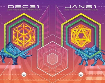 STS9 2015-16 NYE Poster Set, Tabernacle Atlanta