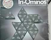 Tri-Ominos-Vintage Board Game-The Classic Triangular Domino Game-For 2-6 Players-Ages 8-Adult-1993-Game is Complete-Box is Smashed