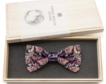 Owl Bowtie - birthday gift, Toddler Bowtie Toddler Bow tie, Groomsmen bow tie, Pre Tied and AdjustableNovioshk, H0215